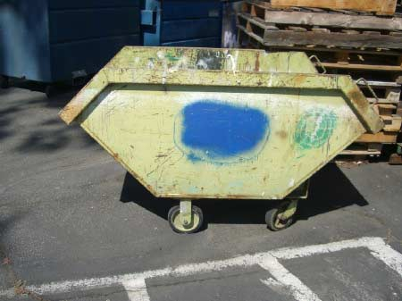 Green Janitor Cart