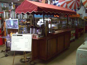 Large Red Coffee Cart.