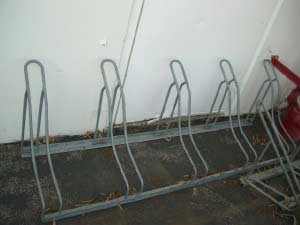 Galvanized Slot Bike Racks