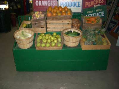 Rolling Two Tiered Produce Stand