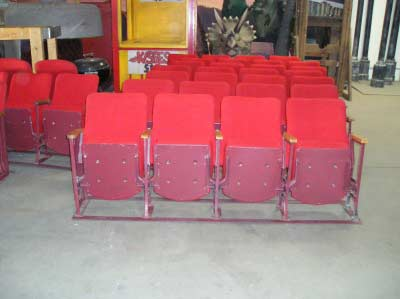 Vintage Red Theatre Seats (Front)