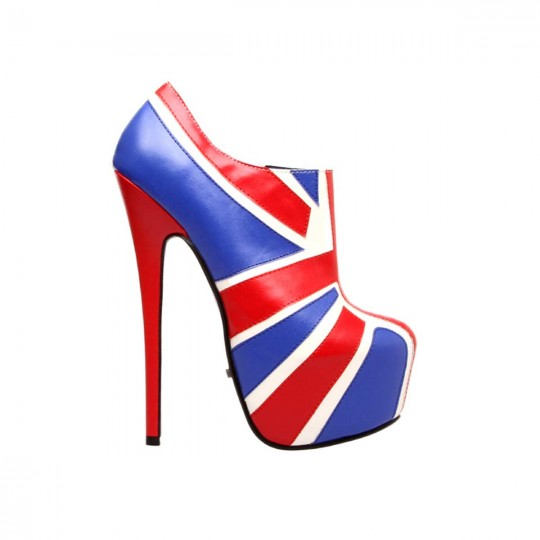 Highest Heel BOMBSHELL-41 - Red/White/Blue Combo in Heels ...
