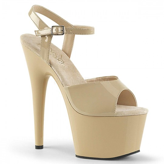 474426601a Pleaser Adore-709 - Cream Pat in Heels & Platforms - $45.95