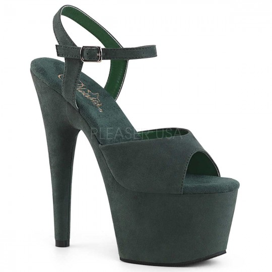 Pleaser Adore 709fs Forest Green Faux Suede In Heels Platforms 44 99