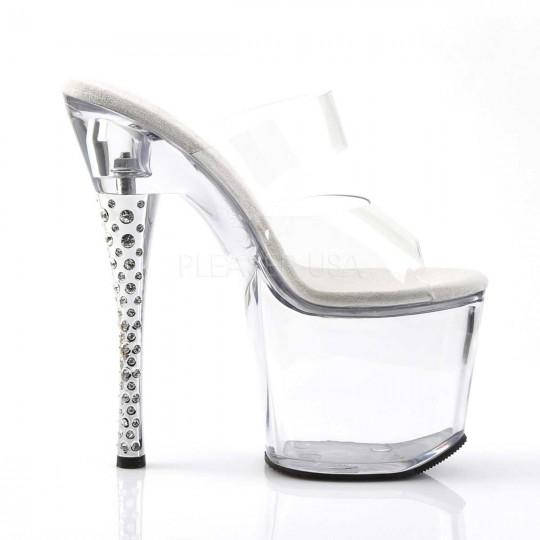 f1e9b274ab3 Pleaser Diamond-702 - Clear Clear in Heels   Platforms -  44.99