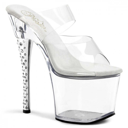 40608e22aab Pleaser Diamond-702 - Clear Clear in Heels   Platforms -  44.99