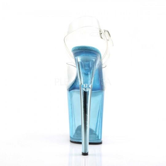 0da62ebddd80 Pleaser Flamingo-808T - Clear Light Blue Tinted in Sexy High Heels ...