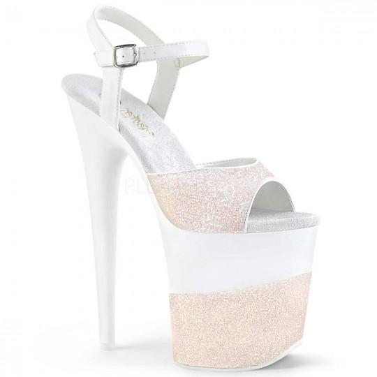 206b200619db Pleaser Flamingo-809-2G - Opal Glitter in Sexy Heels & Platforms - $69.95