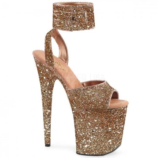 db6dd5543fff Pleaser Flamingo-891LG - Rose Gold Glitter in Sexy Heels   Platforms -   82.95