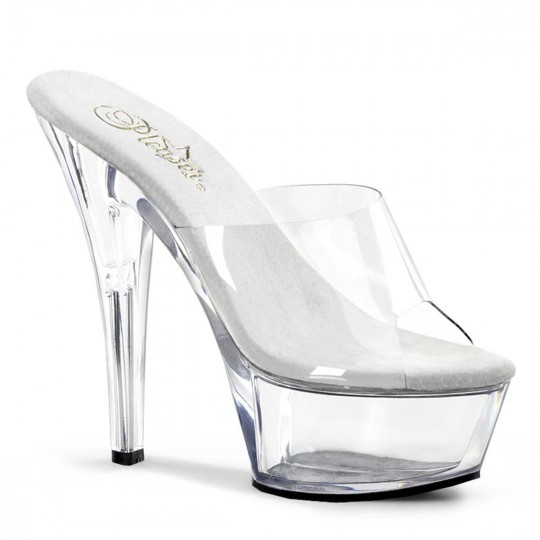 1e2d708c764 Pleaser Kiss-201 - Clear Clear in Heels   Platforms -  37.95