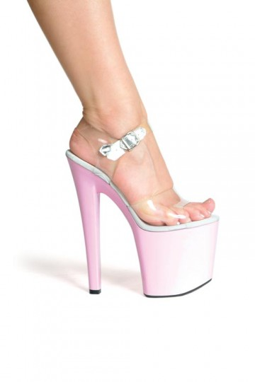 9e55e58b1360 Ellie Shoes 821-Brook - Clear Pink in Heels   Platforms -  55.99