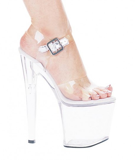 dc9a5727e900 Ellie Shoes 821-Brook - Clear in Heels   Platforms -  55.99